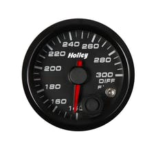 Holley 26-607 2-1/16 Holley Diff Temp Gauge-Black