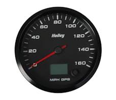 Holley 26-612 3-3/8 Holley 160 Gps Speedo-Black
