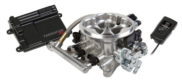 Holley 550-405 TerminatorTM EFI Throttle Body System - Tumble Polished