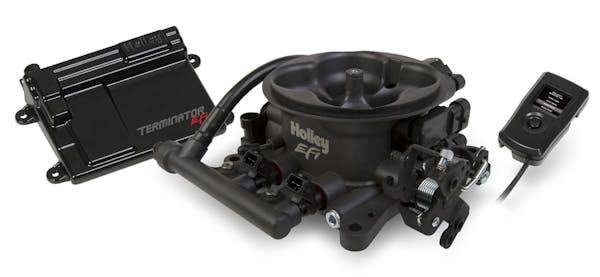 Holley 550-406 TerminatorTM EFI Throttle Body System - Hard Core Gray