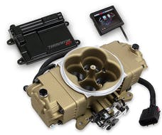 Holley 550-444 Terminator Stealth EFI Kit, Classic Gold Finish