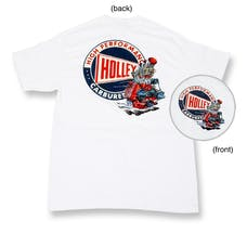 Holley 10012-MDHOL Holley Flathead Shirt (White) Medium