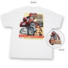 Hooker 10149-MDHKR Willys White Shirt (Pin-Up) Medium