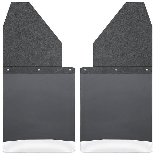 "Husky Liners 17111 Kick Back Mud Flaps 14"" Wide - Black Top and Stainless Steel Weight"