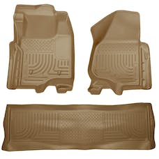 Husky Liners 98713 Weatherbeater Series Front & 2nd Seat Floor Liners (Footwell Coverage)