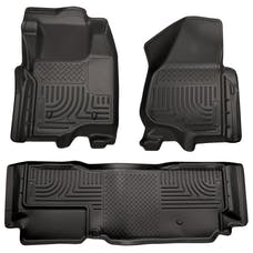 Husky Liners 98721 Weatherbeater Series Front & 2nd Seat Floor Liners (Footwell Coverage)