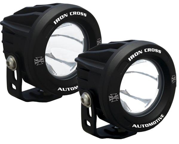 "Iron Cross Automotive OP3R-ICKIT 3.75"" LED Light Kit, 860 Lumen Each, 10 Degree Beam"
