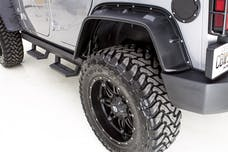 LUND FX606T-B Flat Style Fender Flare Set - Front and Rear, Textured, 4-Piece Set, Black FX-JEEP FLAT STYLE 4PC TEXTRD FX-JEEP FLAT STYLE 4PC TEXTRD