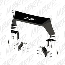 MBRP Exhaust 182728LX Formed Front Light Bar; LineX Coated