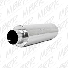 MBRP Exhaust M2220A Quiet Tone Muffler; 5in. In/Out; 8in. Dia. Body; 31in. Overall; AL