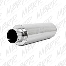MBRP Exhaust M2220S Quiet Tone Muffler; 5in. In/Out; 8in. Dia. Body; 31in. Overall; T409