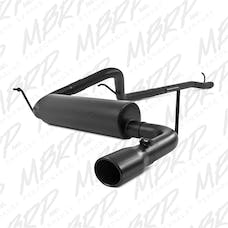 MBRP Exhaust S5526BLK 2 1/2in. Cat Back; Single Rear Exit; Black Coated