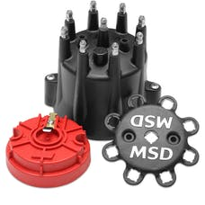MSD Performance 84336 Blk. Dist. Cap/ Rotor Kit Chevy V8, HEI