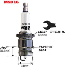 MSD Performance 37444 Spark Plug, 4 Per Package