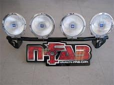 N-FAB D045LB Light Bar L.M.S. Gloss Black Light Tabs