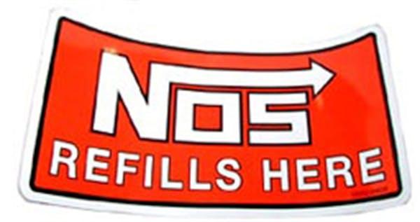 NOS 19202NOS Refills Here Decal