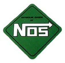NOS 19205NOS Logo Decal  Green Diamond