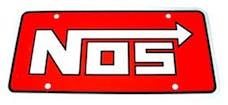 NOS 19300NOS Logo License Plate