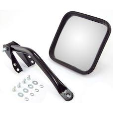 Omix-ADA 11001.09 Door Mirror Kit; Left; Head/Arm; Black; 55-86 Jeep CJ