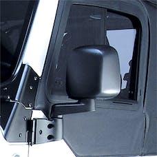 Omix-ADA 11002.11 Door Mirror; Left; Black; 87-06 Jeep Wrangler YJ/TJ