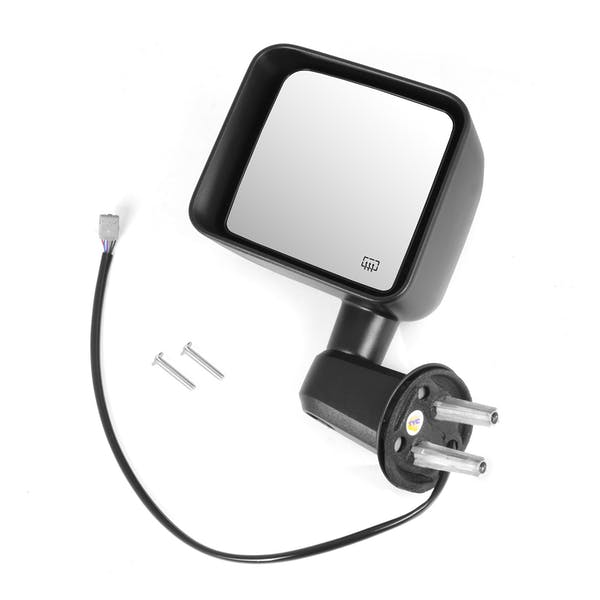 Omix-ADA 11002.25 Heated Power Mirror, Left, Black; 11-13 Jeep Wrangler JK
