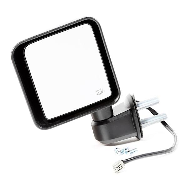 Omix-ADA 11002.26 Mirror, Power Heated, LH, Black; 2014 Jeep Wrangler JK