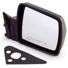 Omix-ADA 12035.08 Black Manual Right Side Mirror; 84-96 Jeep Cherokee XJ