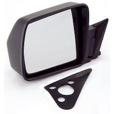 Omix-ADA 12035.09 Black Manual Left Side Mirror; 84-96 Jeep Cherokee XJ