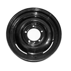 Omix-ADA 16725.01 Steel Wheel, 16 inch, Black; 46-71 Willys/Jeep