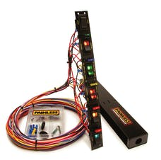 Painless 50506 Fused Dragster Vertical 6 Switch Panel w/Wiring/Hardware