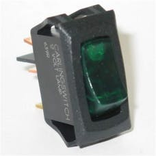 Painless 80413 Small Rocker Switch (On/Off Green Lighted)