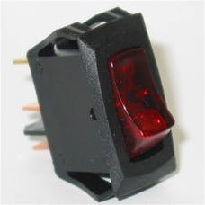 Painless 80415 Small Rocker Switch (On/Off Red Lighted)