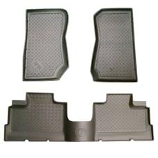 Paramount Automotive 15106B 3pc 4 Door Front and Rear Floor Liners