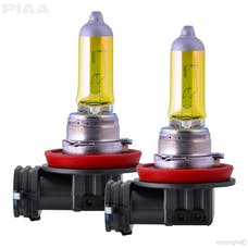 PIAA 22-13408 Solar Yellow Series Halogen Bulb (H8, Twin Pack)