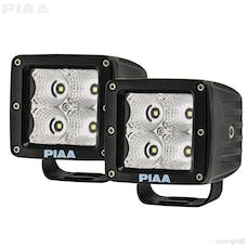 PIAA 26-06303 Quad Series Flood Beam LED Cube Light (with Harness, 1,280 Raw lm)