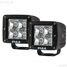PIAA 26-06603 Quad Series Spot Beam LED Cube Light (with Harness, 1,280 Raw lm)