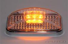 "Putco 900003 Universal Side Marker - Amber LED w/Clear Lens ( 2pcs - 2""x4"")"