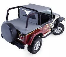 Rampage Products 993015 Cab Soft Top with Tonneau Cover, Black Denim