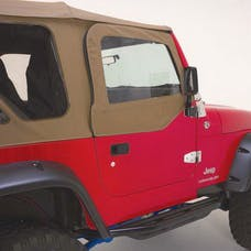 Rampage Products 68117 Complete Soft Top Kit - Frame & Hardware for Soft Upper Doors, Spice Denim