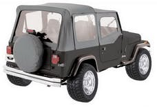 Rampage Products 68111 Complete Soft Top Kit - Frame & Hardware for Soft Upper Doors, Gray Denim
