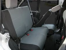 Rampage Products 5057821 Custom Fit Polycanvas Seat Cover; Black/Gray; Rear