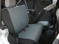 Rampage Products 5057921 Custom Fit Polycanvas Seat Cover; Black/Gray; Rear