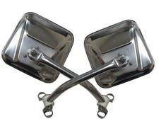 Rampage Products 7418 Side Mirror Kit; Stainless; Pair