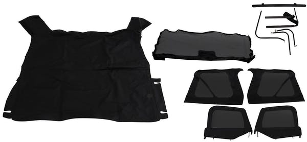 Rampage Products 68535 Complete Soft Top Kit Black Diamond
