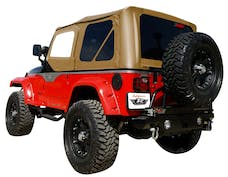 Rampage Products 912917 Factory Replacement Soft Top; Replacement Plus; w/Door Skins; Denim Spice