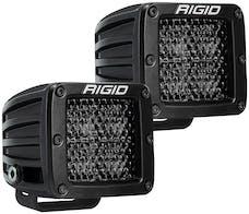 RIGID Industries 202513BLK D-Series Pro Spot Diffused Midnight Surface Mount | Pair