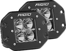 RIGID Industries 212123 D-Series Flood Flush Mount Amber pair