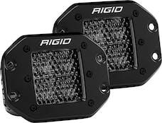 RIGID Industries 212513BLK D-Series Pro Spot Diffused Midnight Flush Mount   Pair