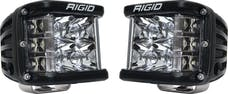 RIGID Industries 262213 Dually Side Shooter PRO LED Spot Light, Surface Mount