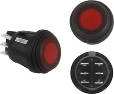 Rigid Industries 40181 3 POSITION ROCKER SWITCH RED